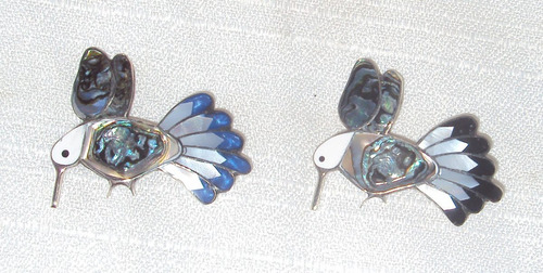 pin prendedor colibrí en concha abulon a precio de taller