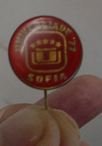 pin universidade de sofia / bulgaria  1977   /  frete gratis