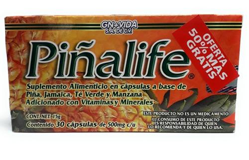 piñalife gn vida 30 capsulas envio full