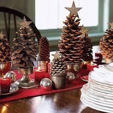 piñas de pino navideñas naturales