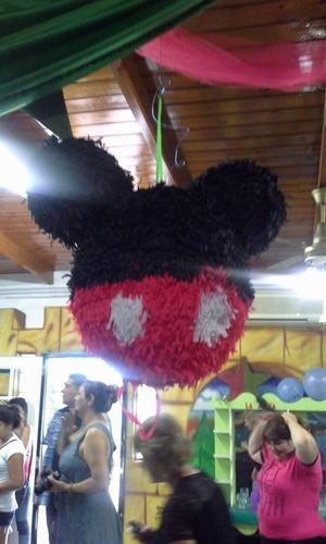 piñata + 5 centros de mesa super oferta mickey