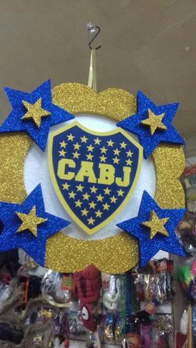 piñata boca juniors artesanal. cotillon chirimbolos