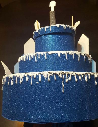 piñata castillo frozen / decoración candy bar / envío gratis