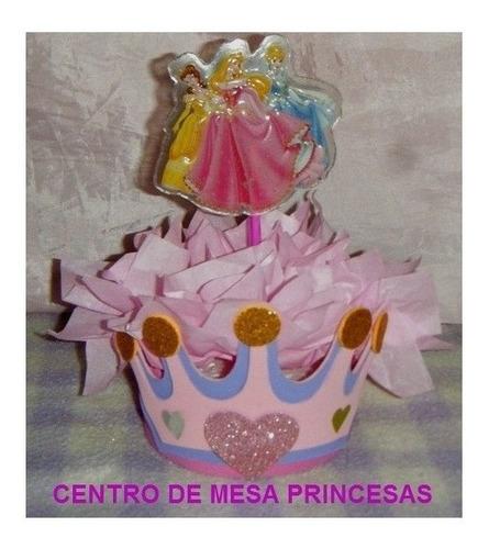 piñata de princesa. combo de piñata + palo + centro de torta