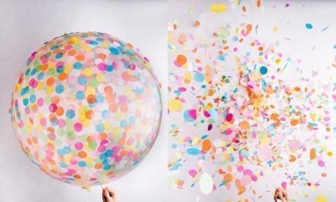 piñata globo transparente cristal 36´´ 90cm para confetti