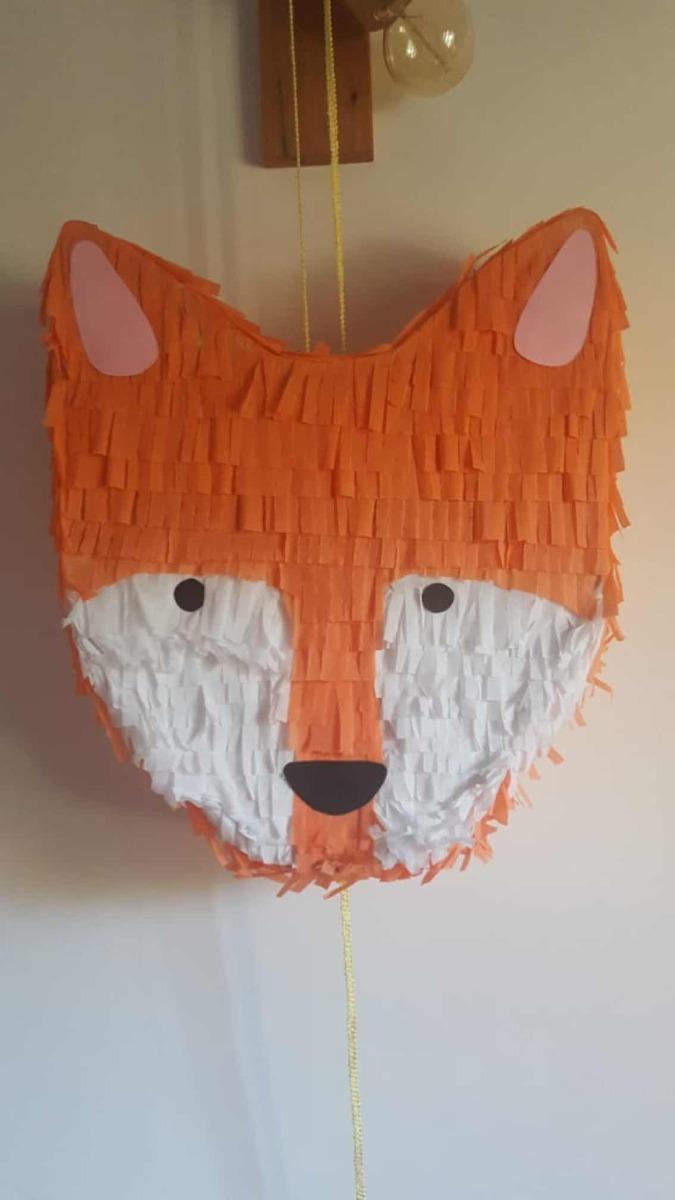 Pinata Infantil Cumpleanos Zorro Fox Forest Bosque Flecos 450 00