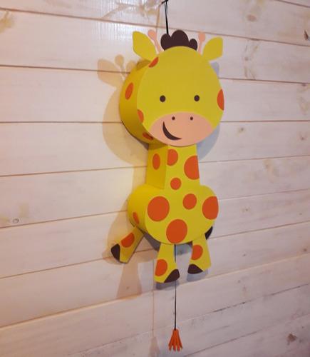 piñata jirafa animales de la selva artesanal