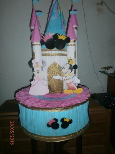 piñata mickey y minie bella-princesa-frozen-luna-peppa-