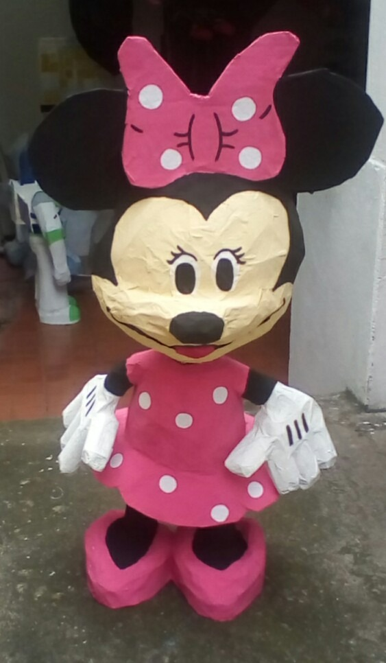 how to make a minnie mouse pinata