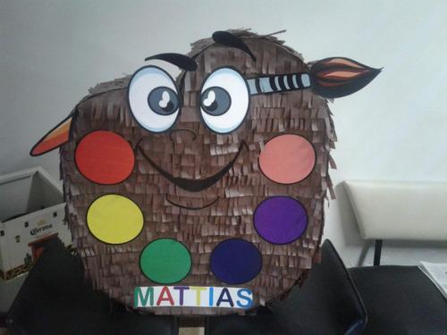 piñata paleta de pintura