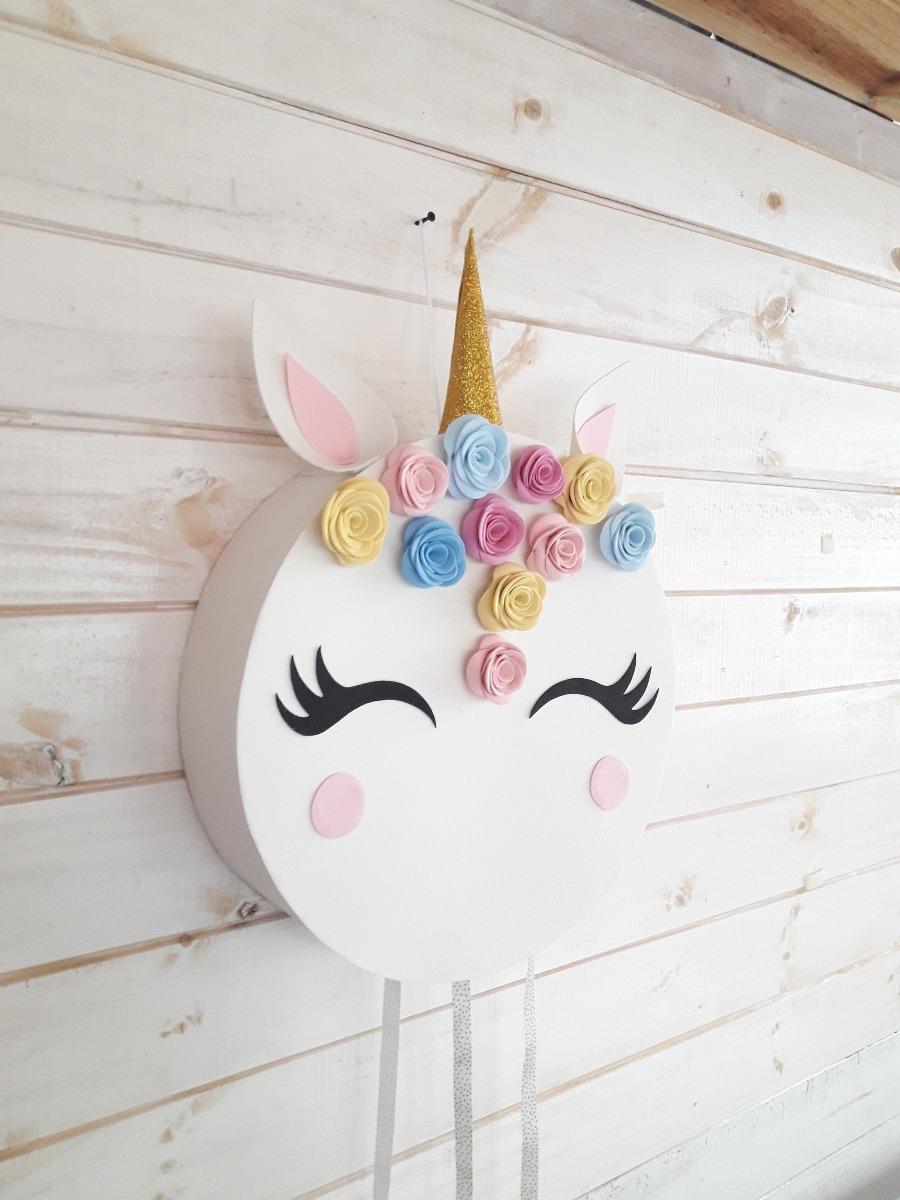 Piñata Unicornio Artesanal En Goma Eva Redonda