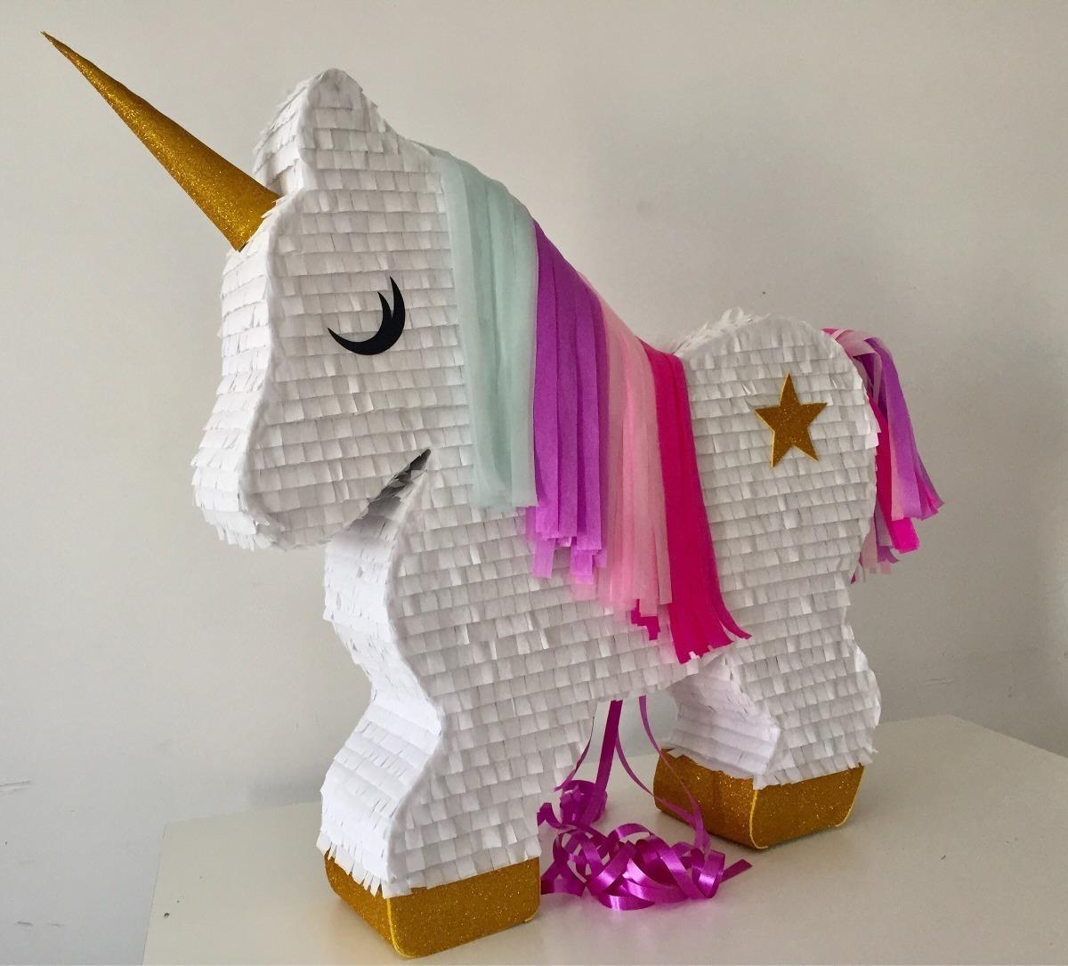 Pi ata unicornio tem tica fiesta decoraci n cumplea os ni a en mercado libre - Pinatas de cumpleanos ...