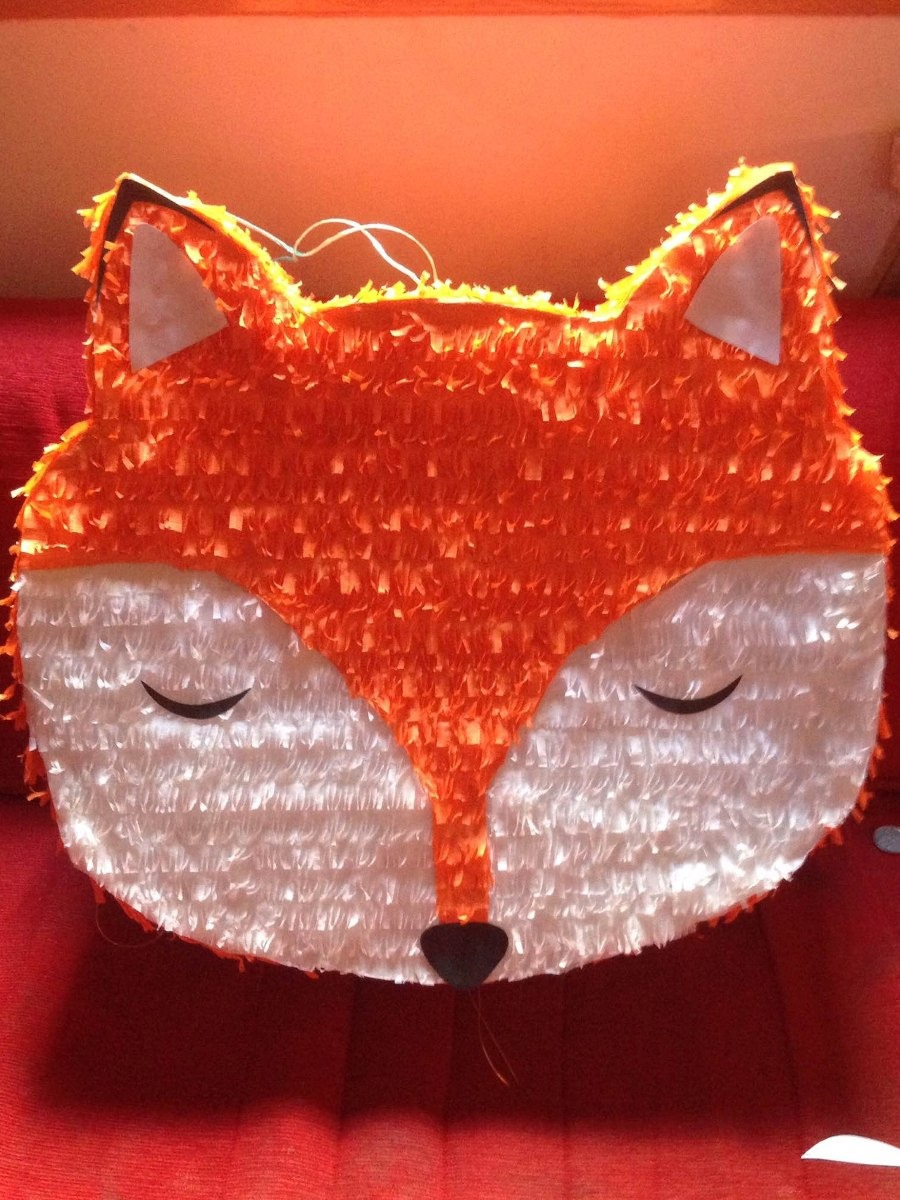 Pinata Zorro Fox Animales Del Bosque Woodland Cumpleanos 650 00