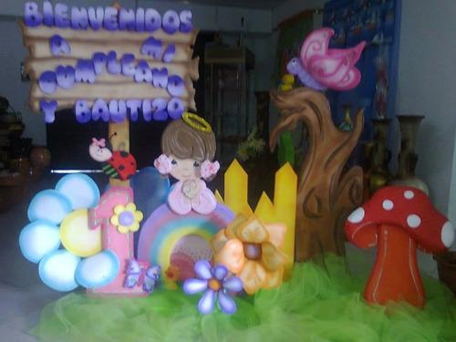 piñatas, chupeteros, bienvenidos, escenarios. todo en anime