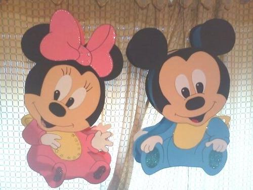 piñatas en goma eva, minnie bebe y mickey bebe