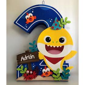 Piñatas, Minipiñatas Y Cakes Topper De Baby Shark
