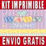 Kit Imprimible Baby Shower Diseña Invitaciones Y Tarjetas