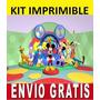 Kit Imprimible La Casa D Mickey Diseña Invitaciones R: A