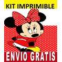 Kit Imprimible Minnie Mouse Diseña Invitaciones Y Tarjetas