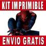 Kit Imprimible De Spiderman Hombre Araña Diseña Invitaciones