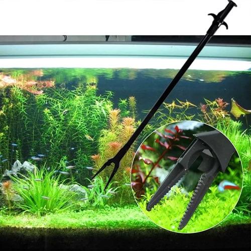 pinça de plástico para aquário p/ limpeza manutenção c/ 50cm