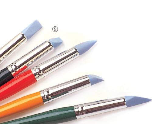 pince punta de goma x5 unidades artmate - pinceles rubber