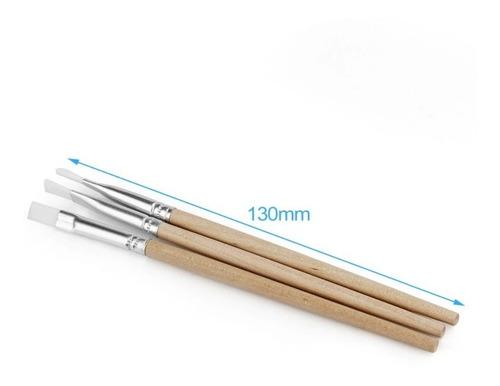 pincel anti estatico esd aplicação de fluxo com cabo madeira
