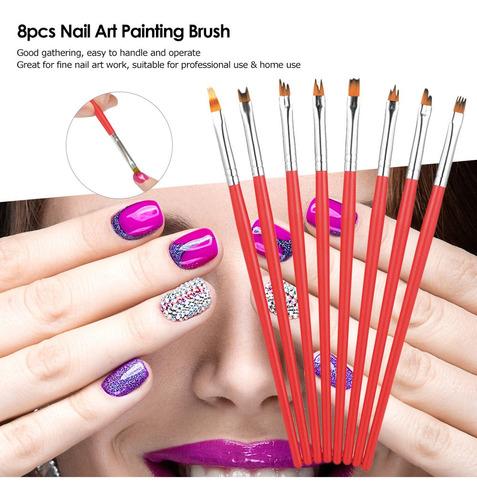 Pincel De Desenho De Unhas Para Pintura Em Gel Uv Manicure F R