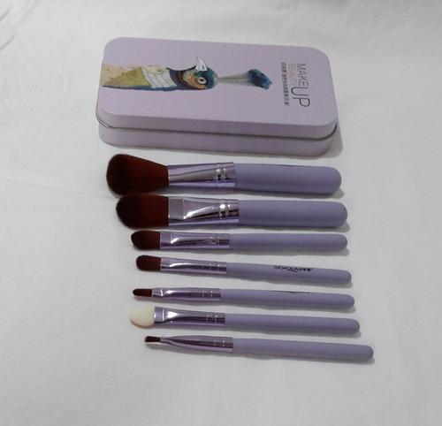 pincel de maquiagem kit profissional 7 pcs macio
