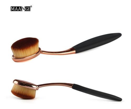 pincel escova oval para contorno - base - maquiagem