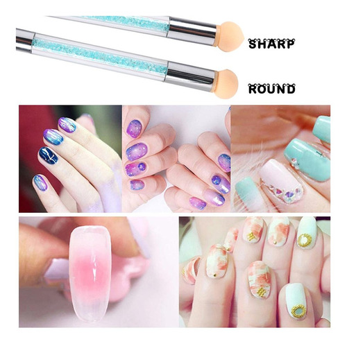 pincel esponja nail art 6 puntas decoracion de uñas