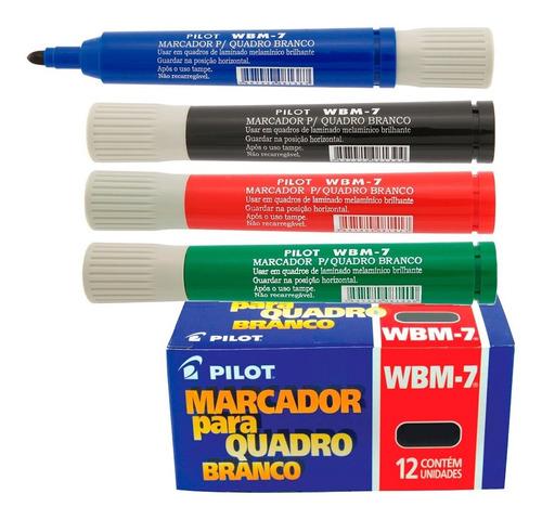 pincel marcador para quadro branco wbm-7 preto pilot cx/12
