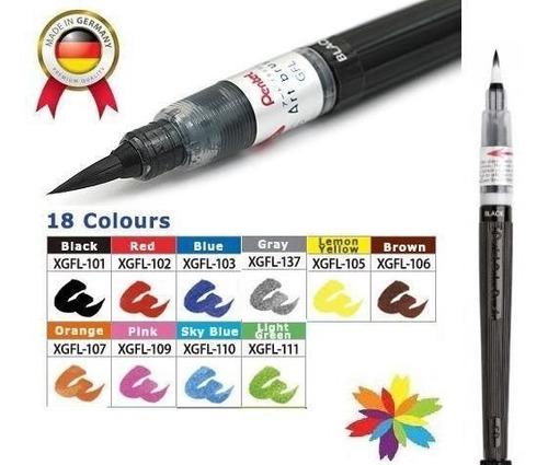 pincel marcador pentel arts brush para tinta barrio norte