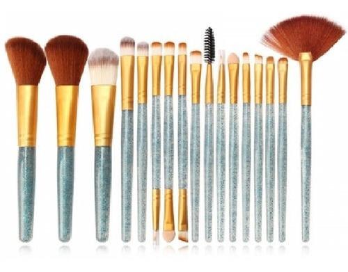 pincel para maquiagem kit com 18 peças profissional