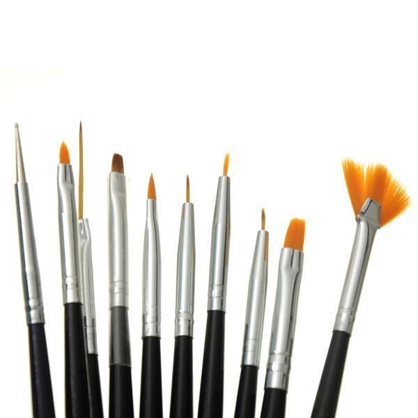 Pincel Para Pintar Y Dibujar Con Punta De Acrílico Nail Art ...