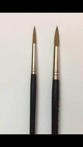 pincel uñas acrilicas - pelo natural 100% - uso profesional