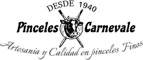pinceles carnevale juego de bandas nros: 0-1-2-4-6-8