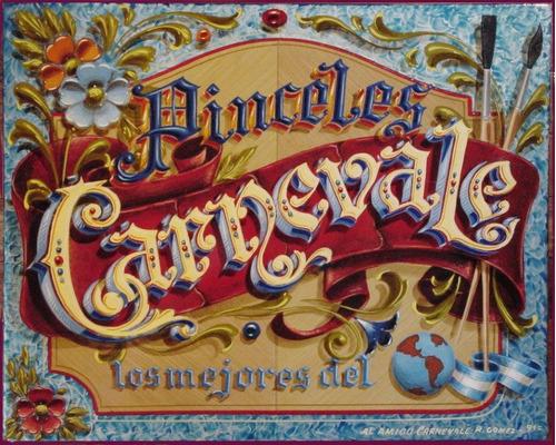 pinceles carnevale juego de pinstriping nros. 2,4,6,10 y 14