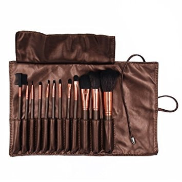 pinceles de maquillaje, 12 pedazos sistema de cepillo del