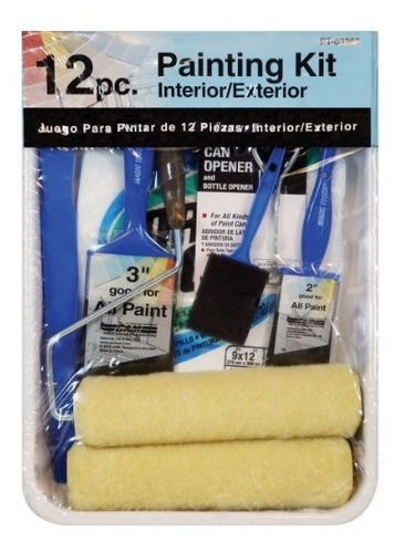 pinceles de pintura gam pt03362 kit de pintura de rodillo de