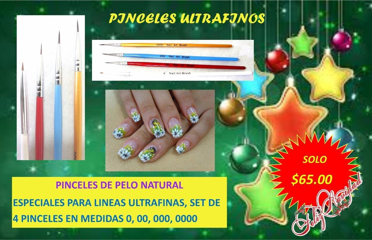 Pinceles Ultrafinos Para Arte En Uñas - $ 65.00 en Mercado Libre