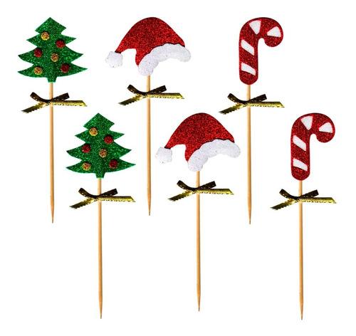 pinches figuras navidad x 6 repostería - ciudad cotillón