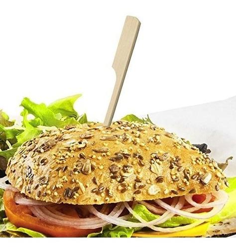 pinchos de bambú para finger food - 12cm - pack x100u
