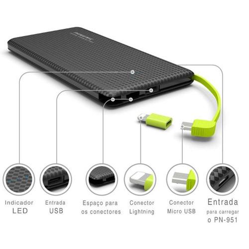 pineng carregador portatil pn951 bateria 10000mah original