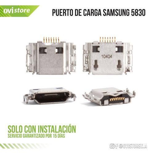 ping puerto de carga samsung 5830 solo instalado