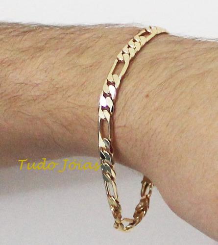 ping. são jorge + conjunto pulseira corrente 6mm frete grati