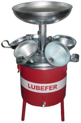 pingadeira de óleo de 25 litros com 6 funis lubefer