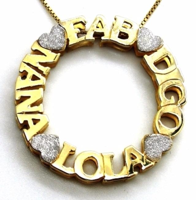7c009aceecf94 Pingente 4cm Nome Frase Em Prata Com Banho De Ouro Mandala - R  600 ...