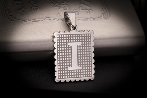 pingente aço inox prateado j-291 letras iniciais a - z