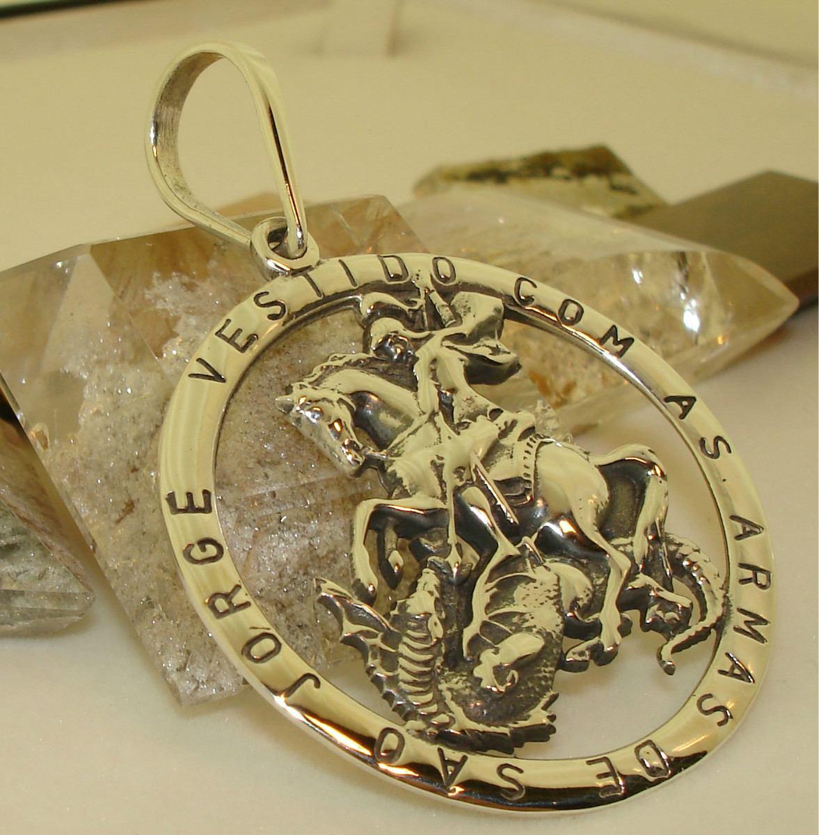 Pingente As Armas De São Jorge Guerreiro Em Prata Maciça - R  181,00 ... f47aadb6f0